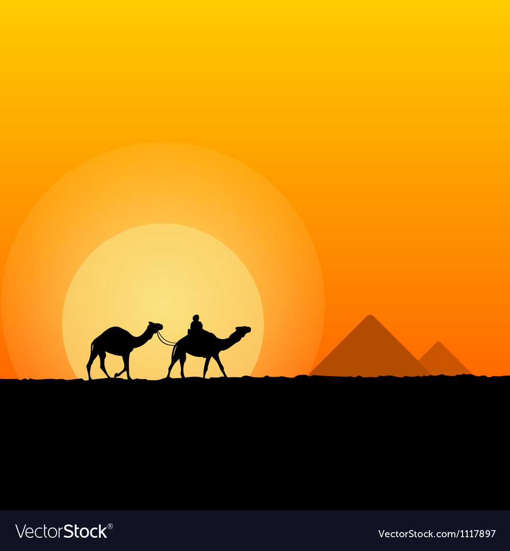 Hot African Scenery vector image