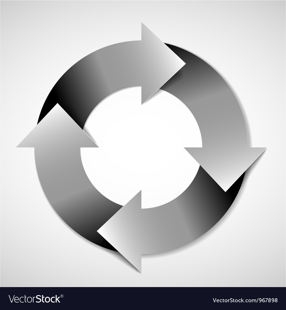 Life cycle diagram vector image