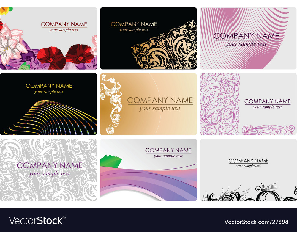 Glamour fashion business cards Royalty Free Vector Image
