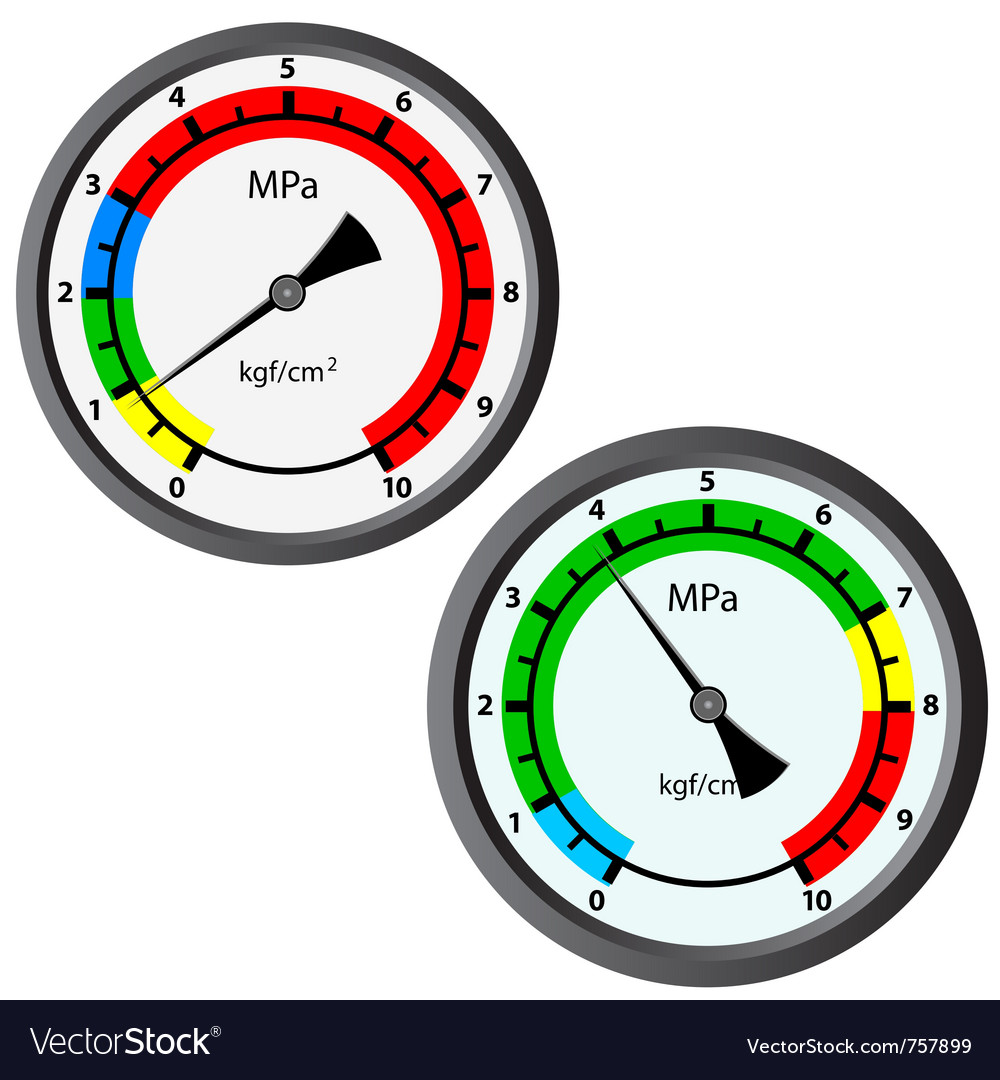 gas manometer. gas manometer vector image o