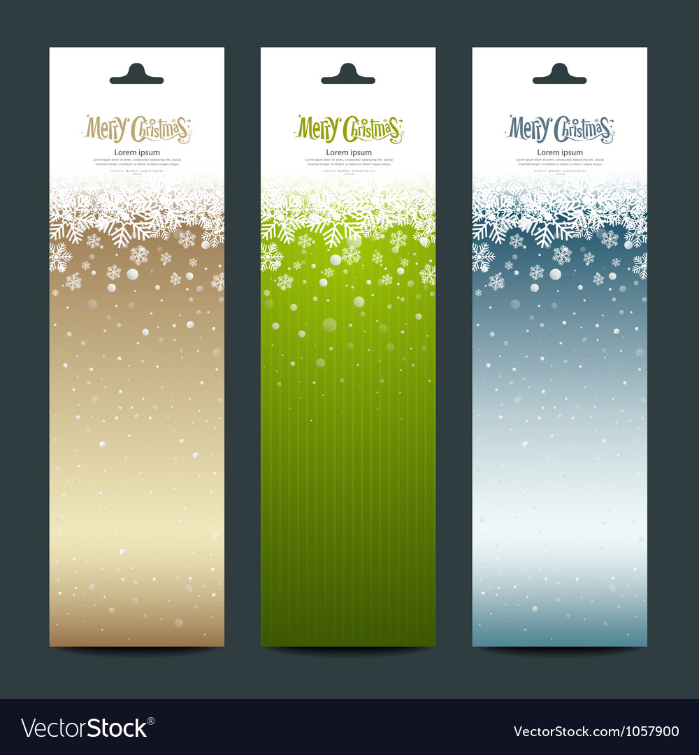 Merry Christmas banner vertical background vector image