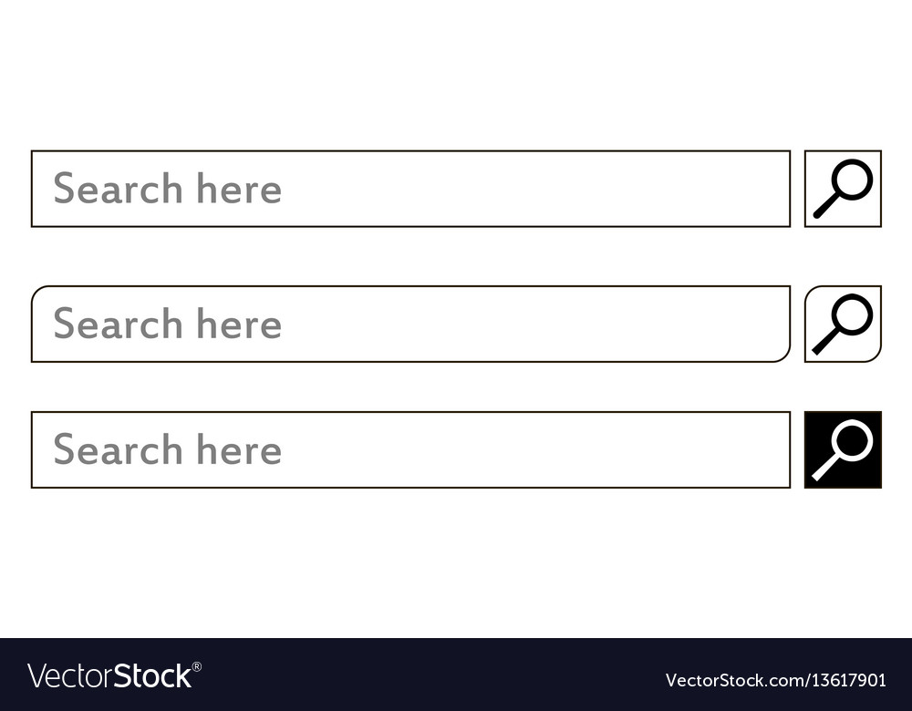 Search bar element design set vector image