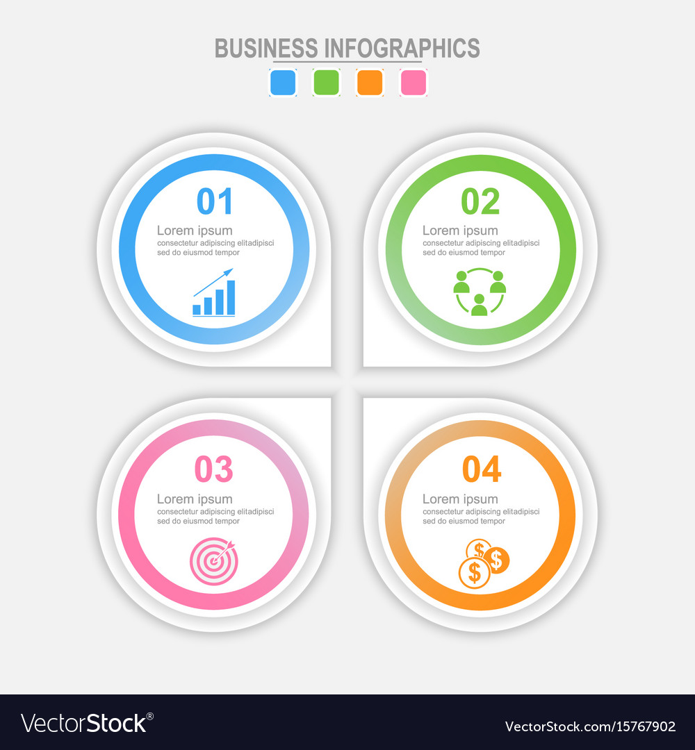 Four options infographic template vector image