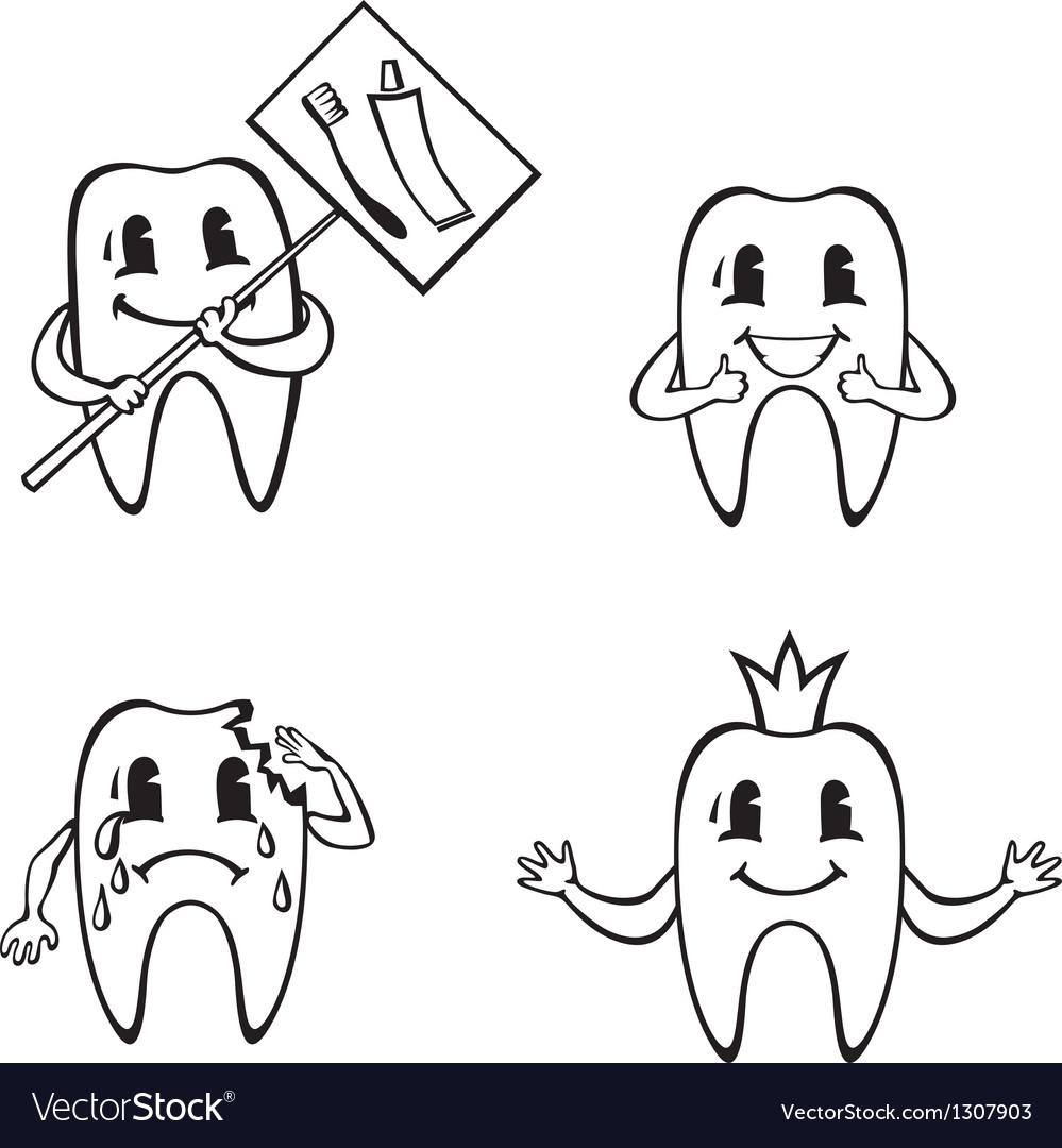 Dent set vector image