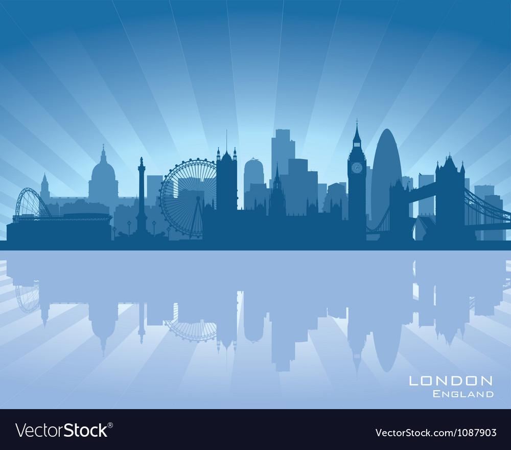 London England skyline vector image