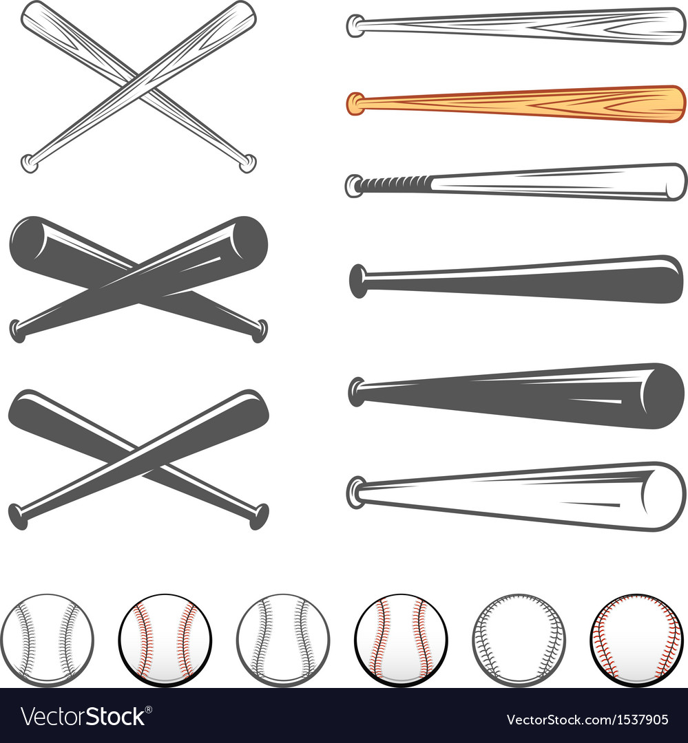 Set of baseball club emblem design elements vector image