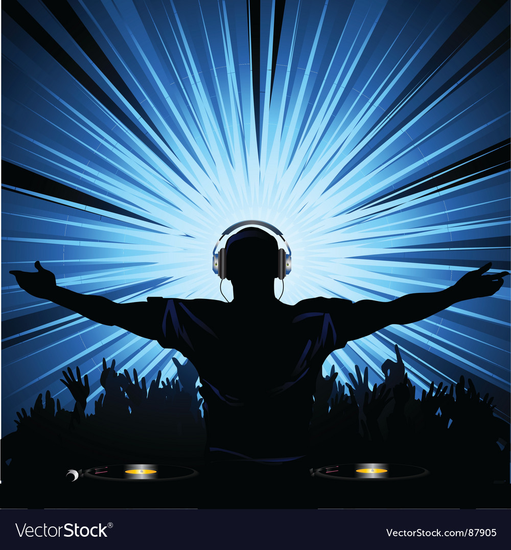 Dj party vector image