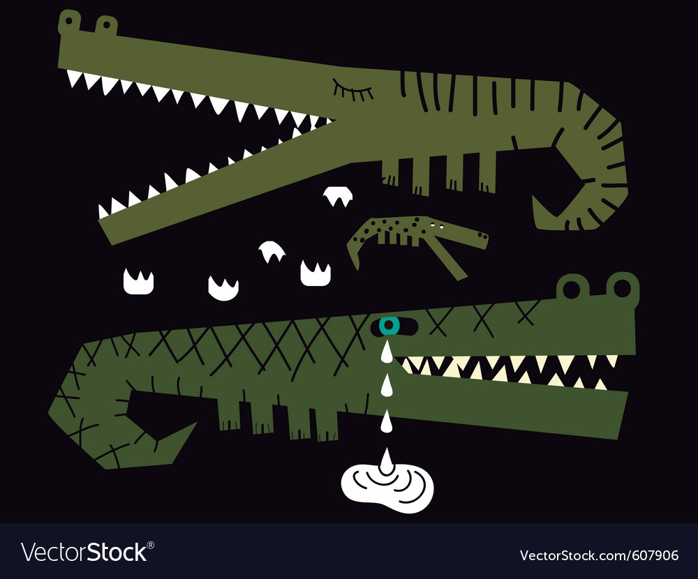 Crocodiles family vector image