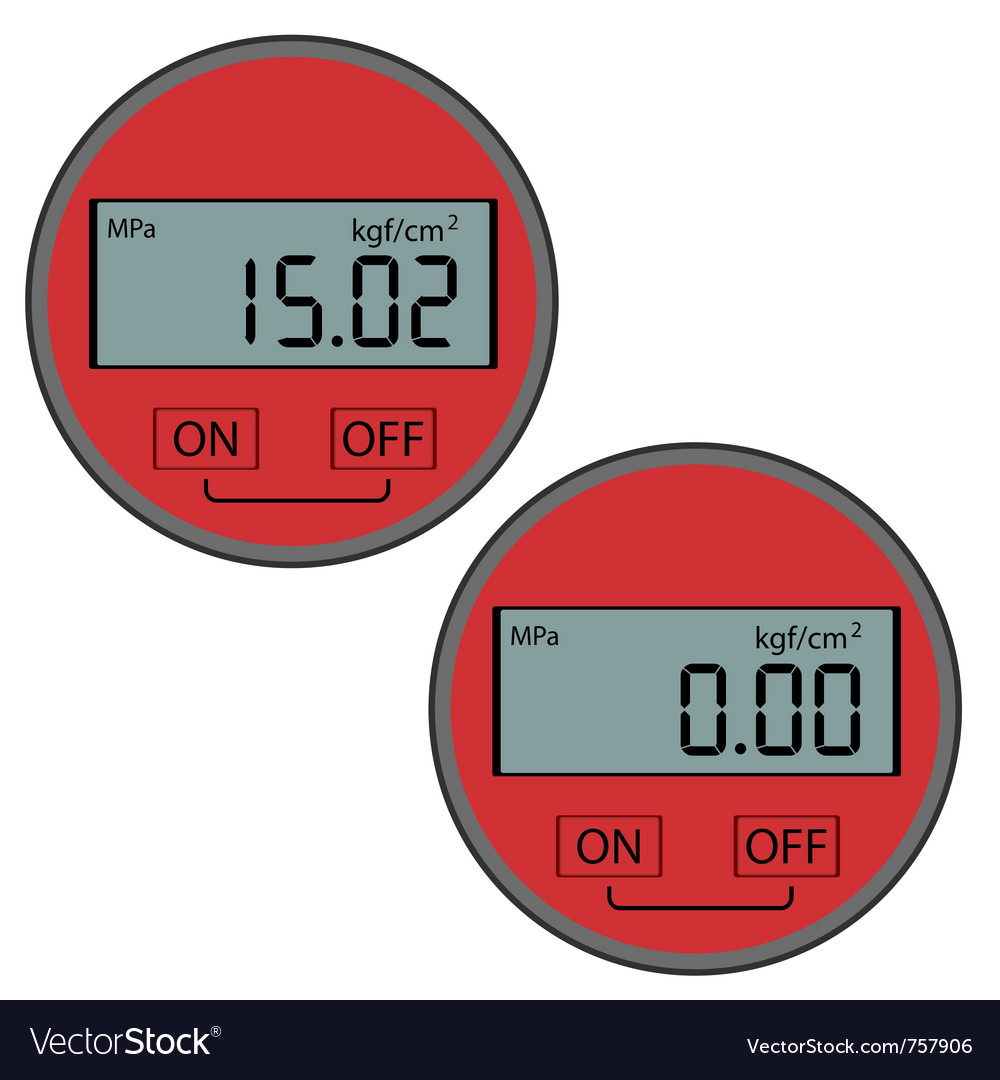 gas manometer. digital gas manometer vector image