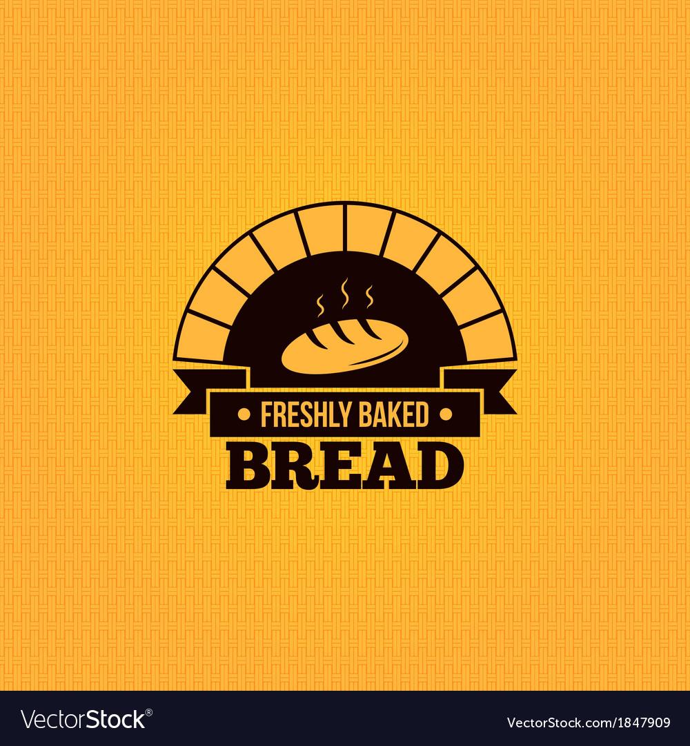 Bread vintage design menu background vector image