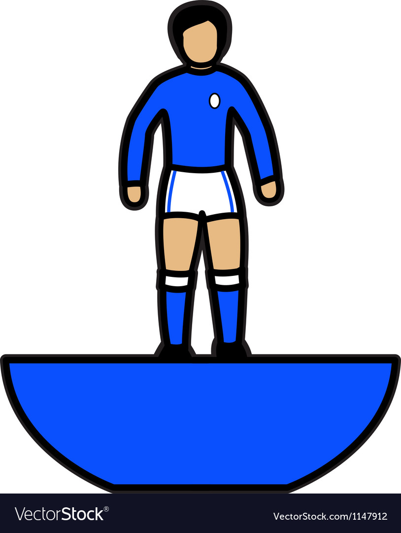 Subbuteo Player vector image