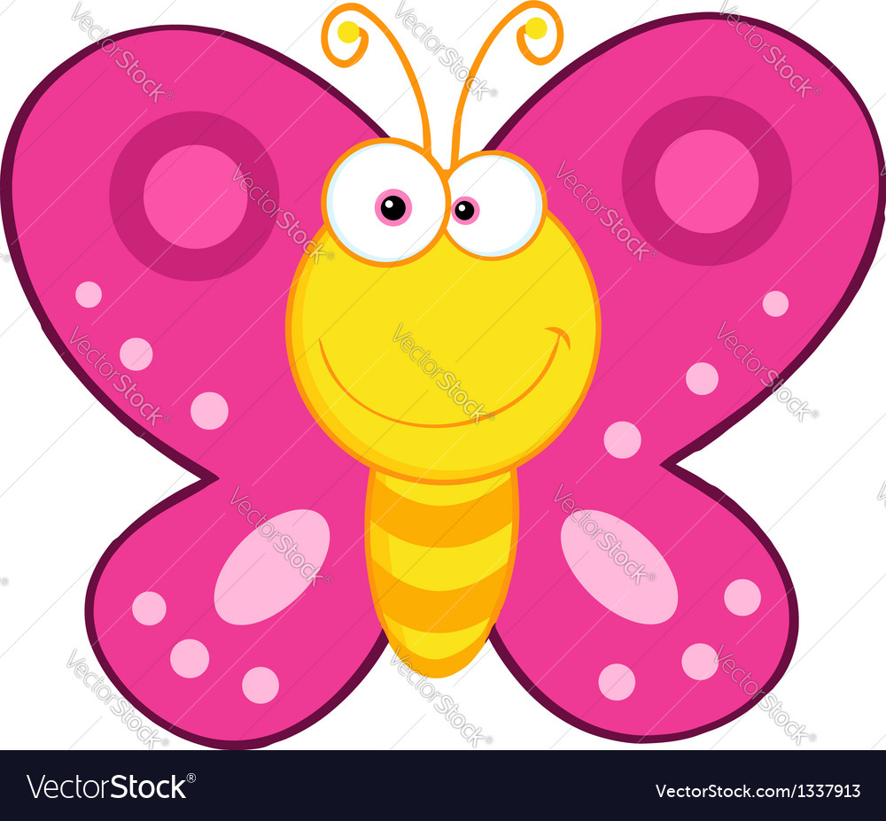 cute butterfly cartoon mascot character royalty free vector clipart of butterfly wings clipart of butterfly wings