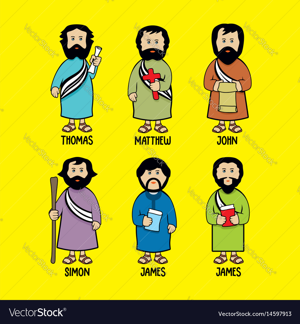The apostles of jesus christ vector image