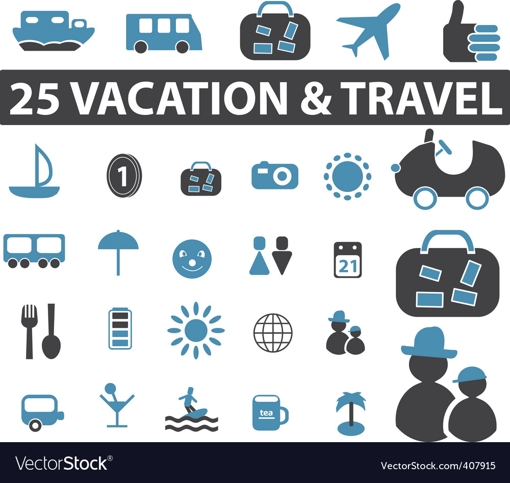 Travel signs Vector Image