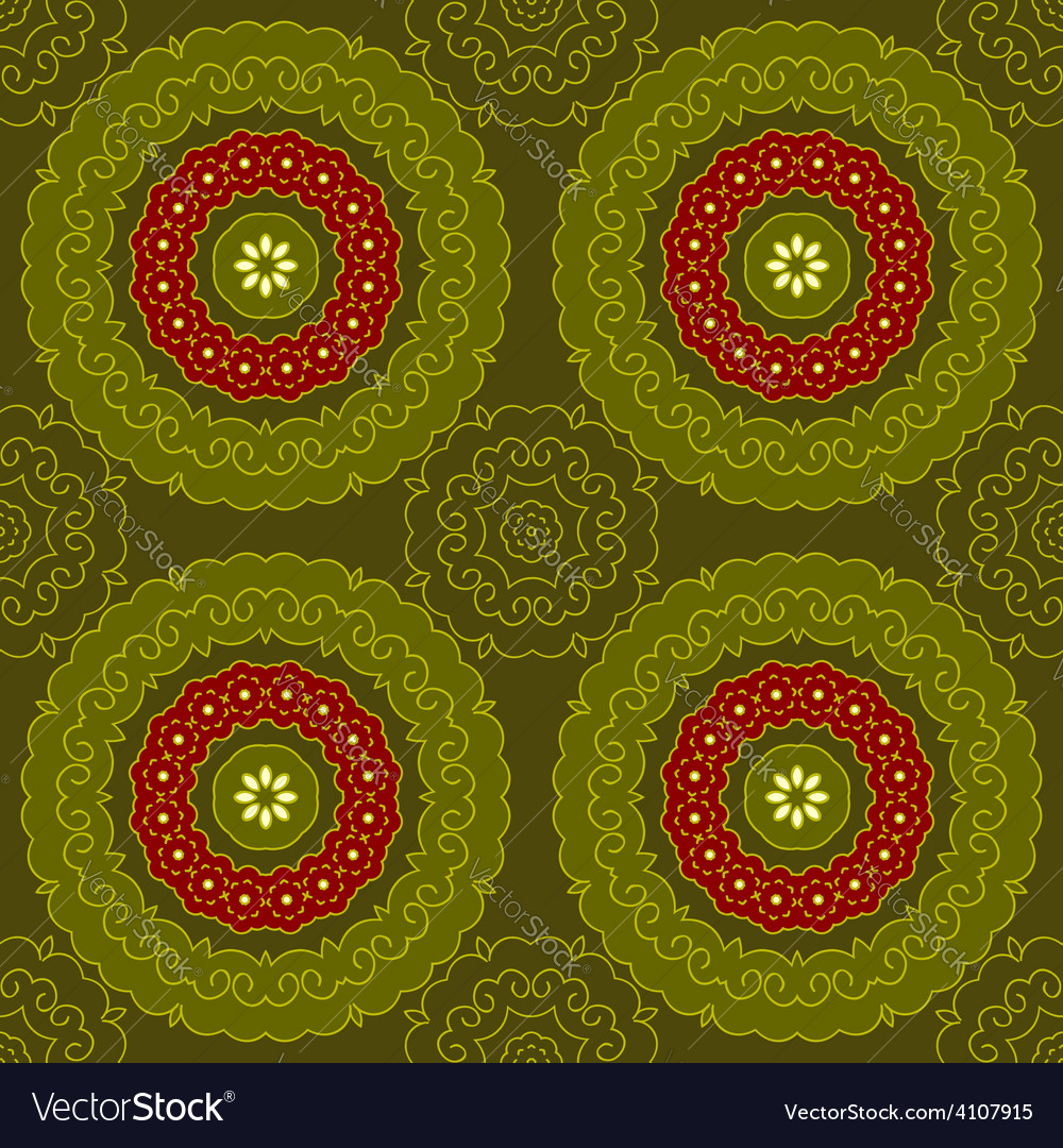 Circle pattern indian vector image
