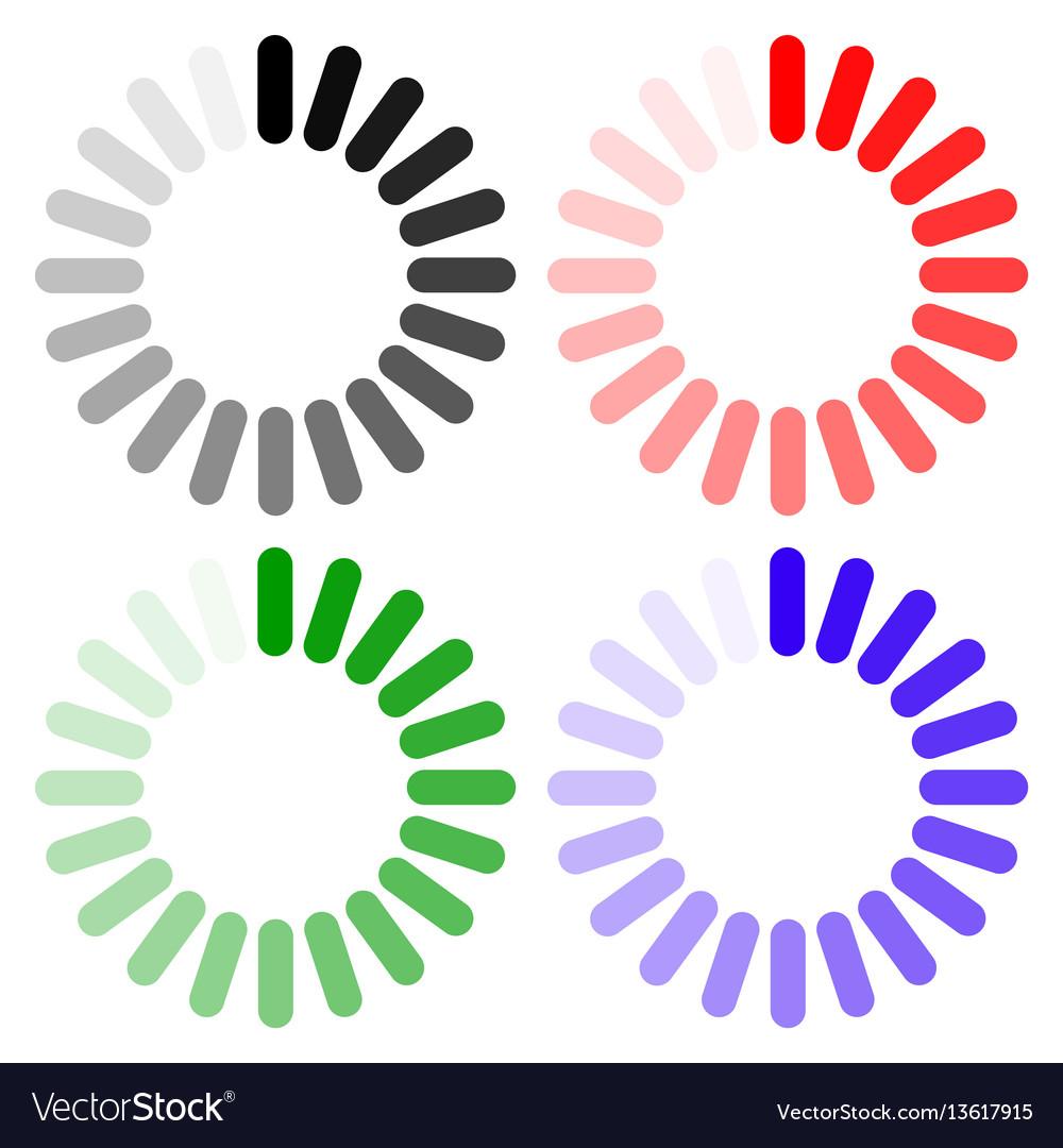 Loading icon indicator for loading progress vector image