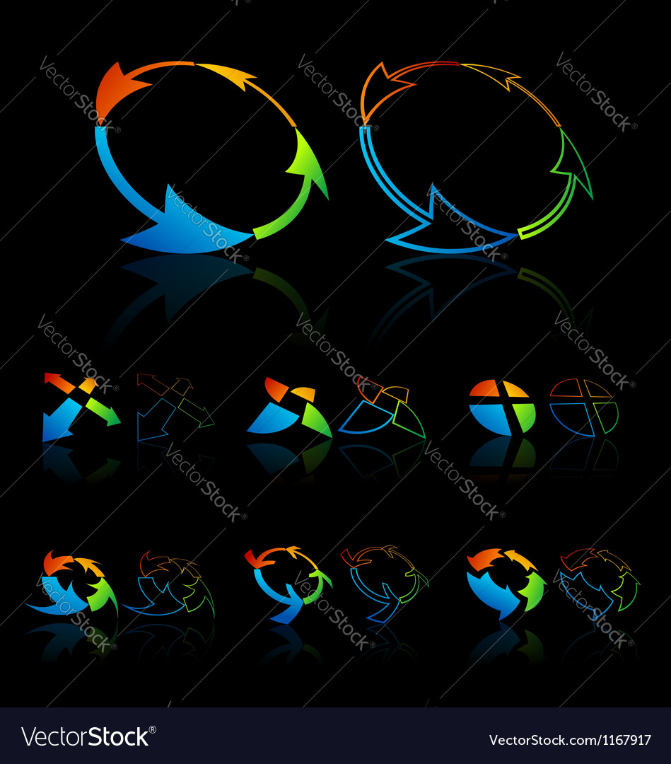 Colorful Cycle symbols vector image