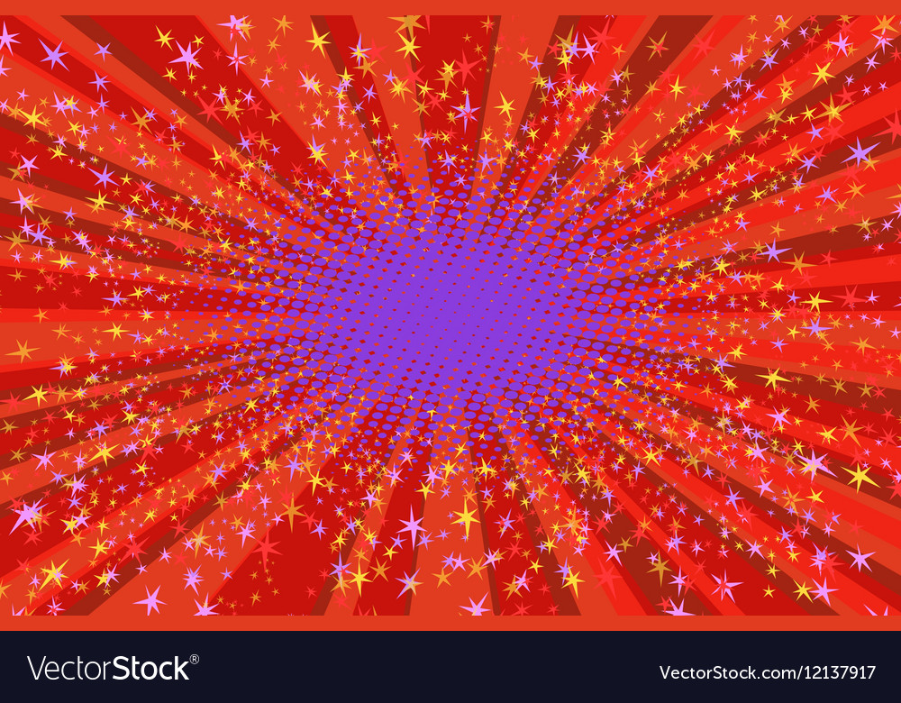 Festive background with bright sparks vector image