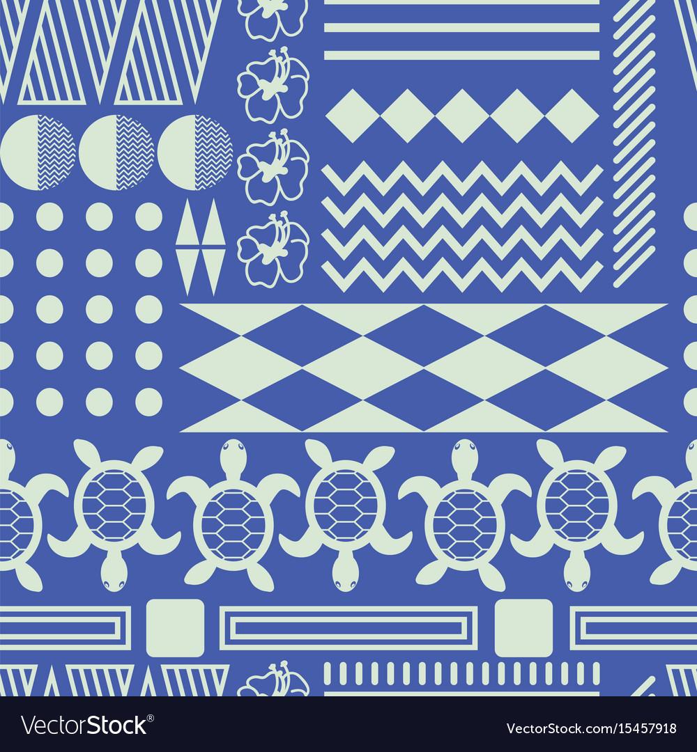 Hawaiian culture ethnic ornament seamless vector image