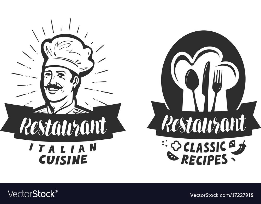 Restaurant logo eatery diner bistro label vector image