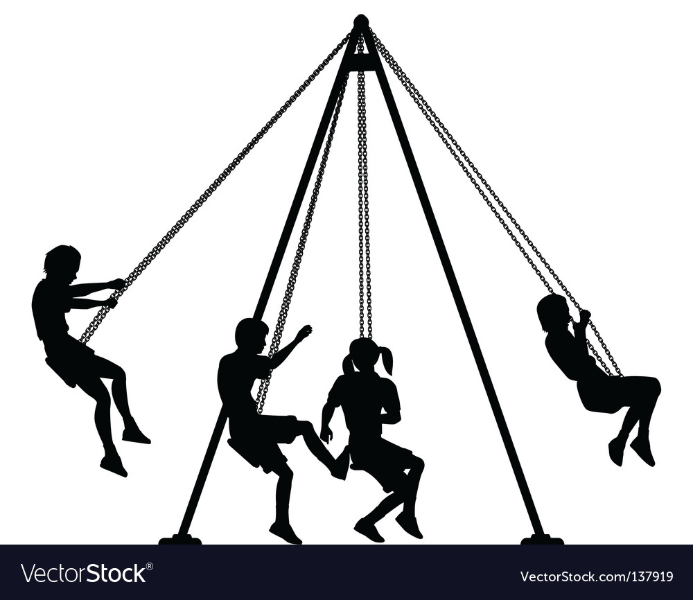 Swings vector image