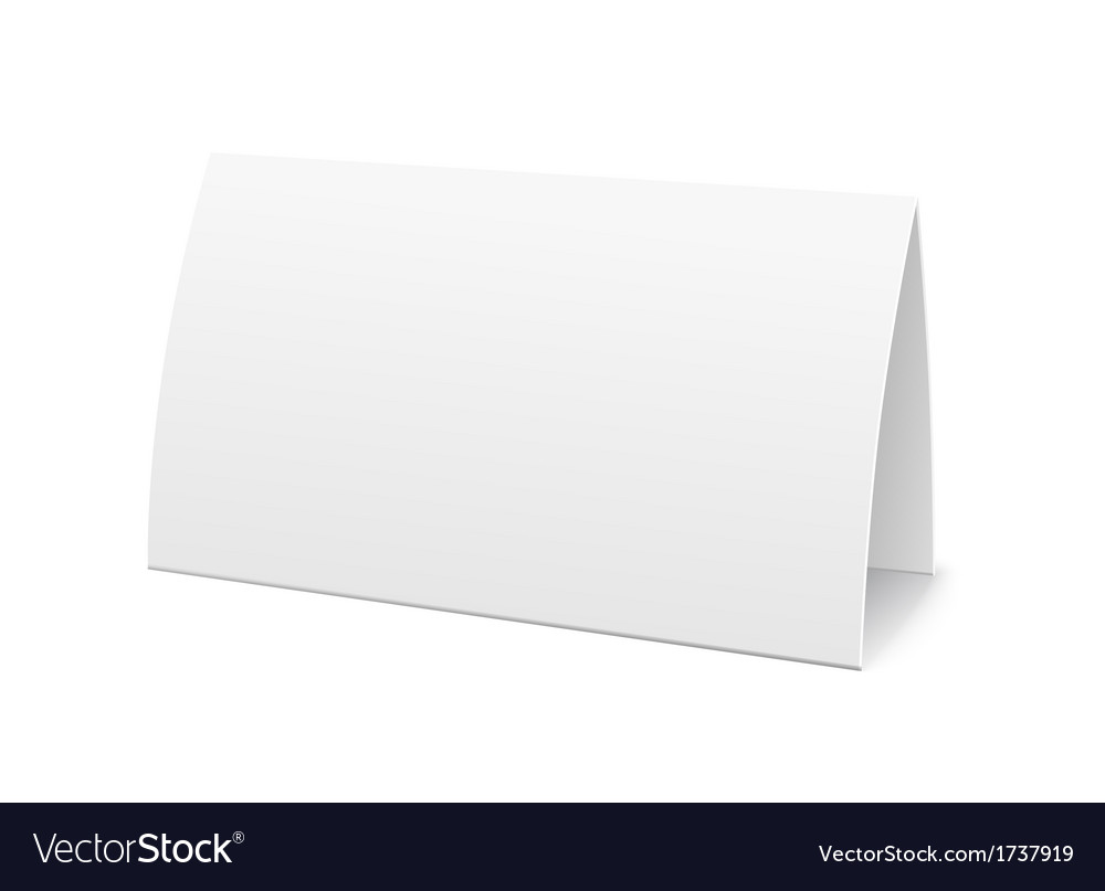 Paper table card sign template vector image