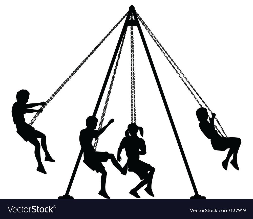 Swings vector image