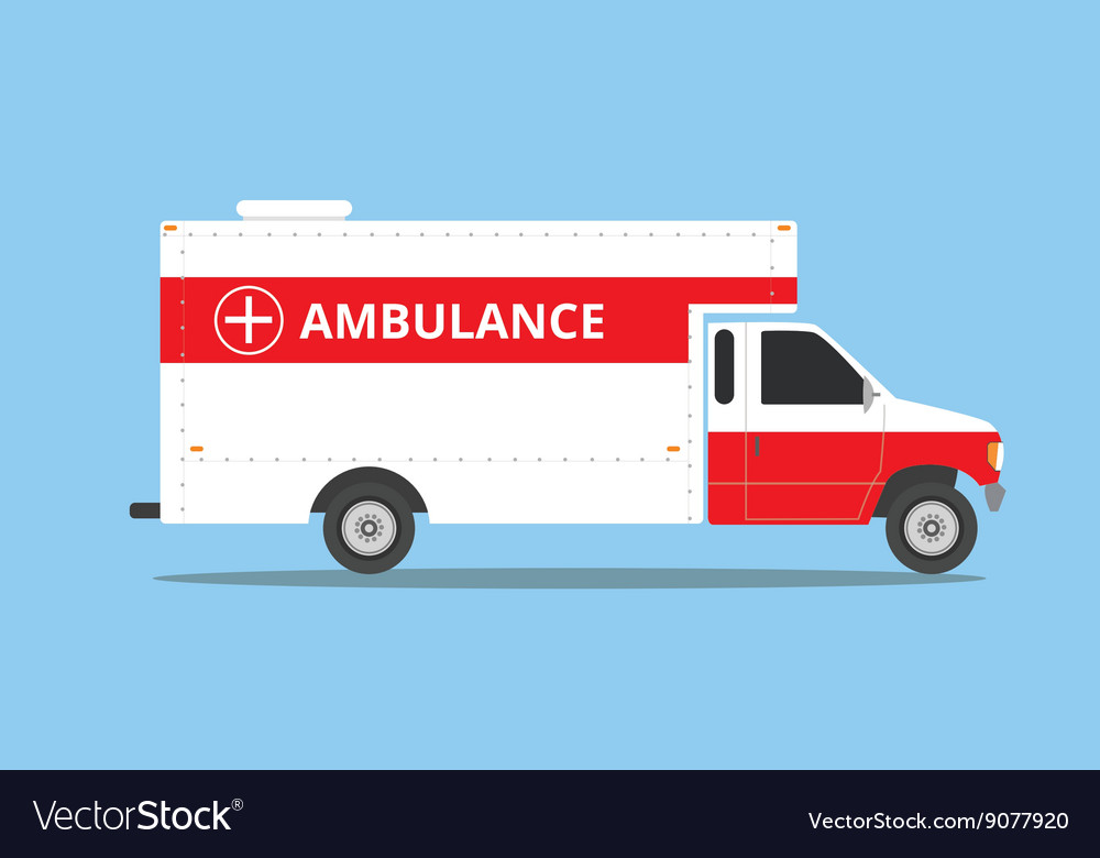 Ambulance car vehicle emergency with fast come vector image