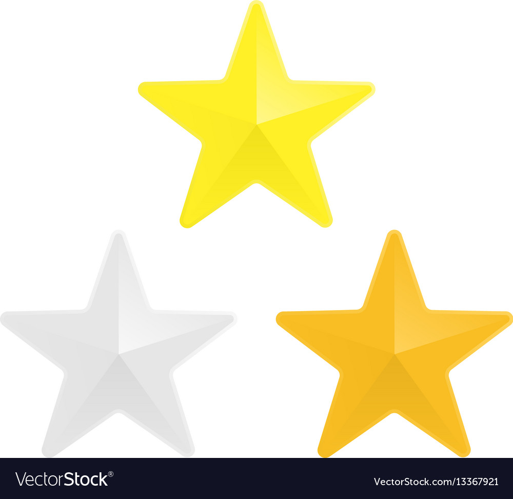 Gold silver and bronze star vector image