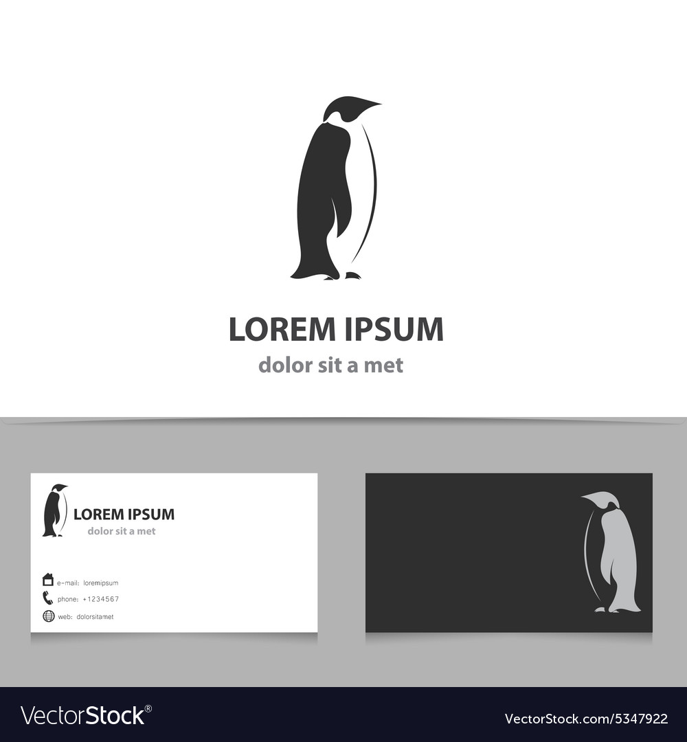abstract penguin logo design template vector image