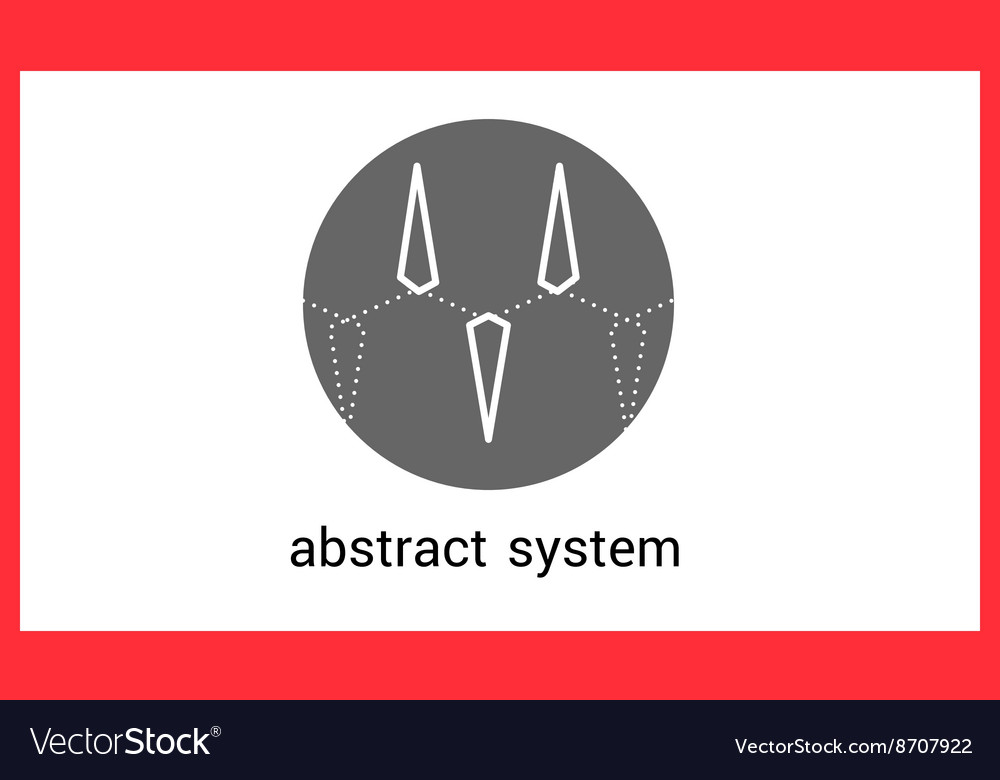 Abstract triangle logo contour outline vector image