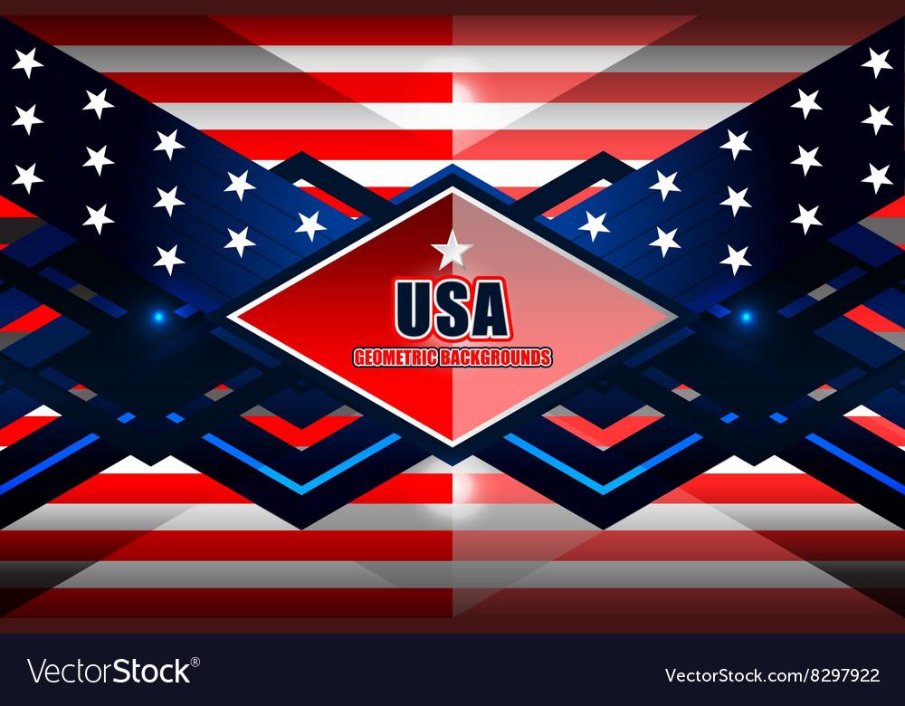 American geometric background vector image
