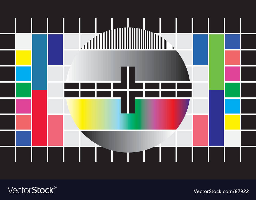 Test television screen vector image