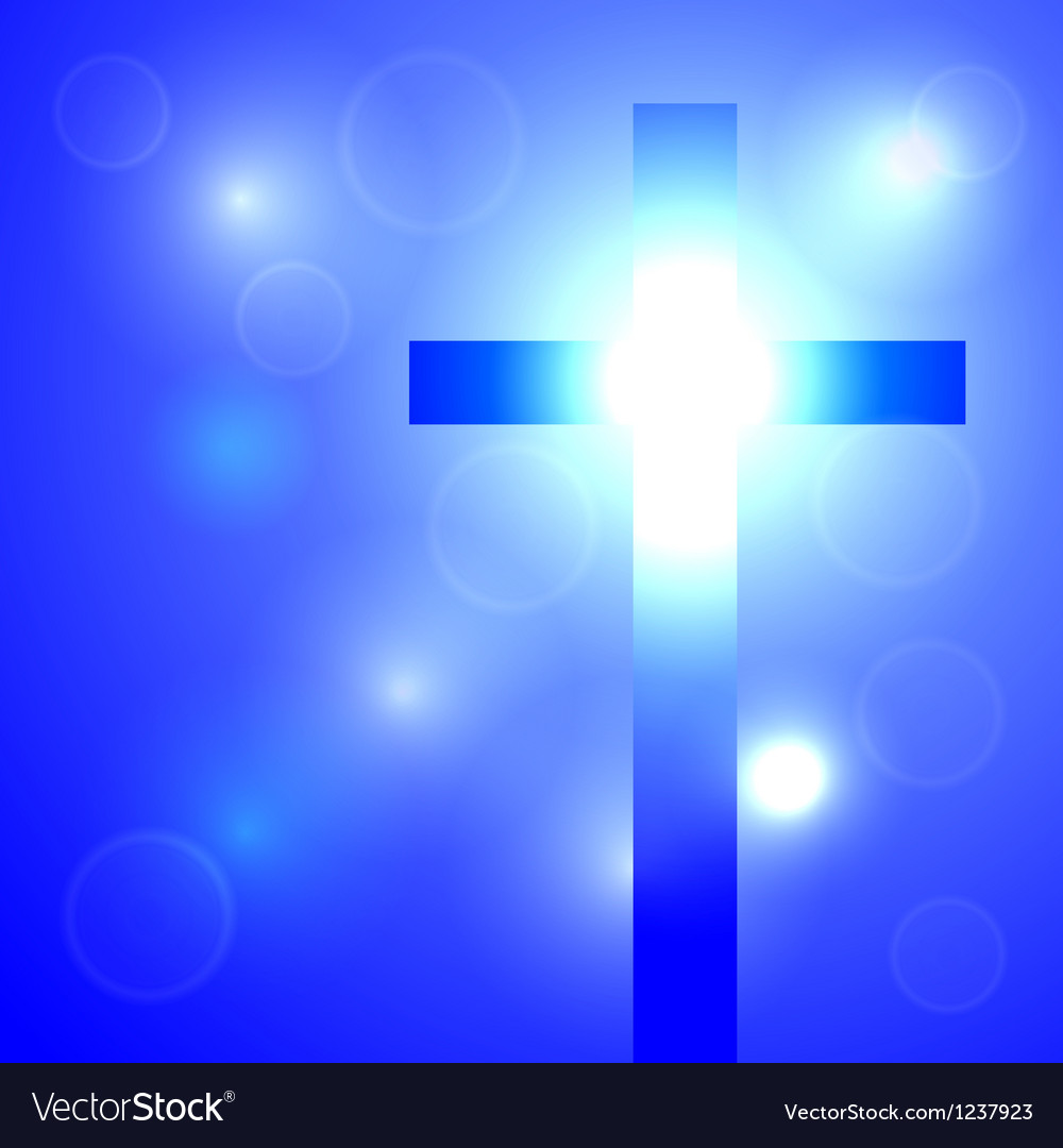 Background with cross vector image