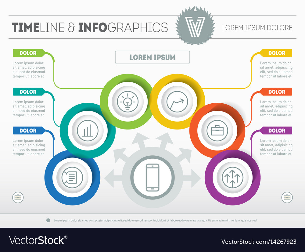 Template of a infochart diagram or presentation vector image