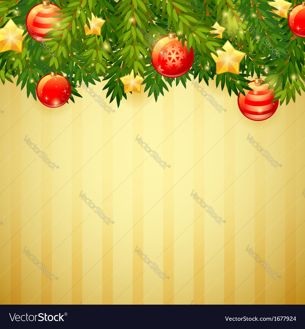 Christmas invitation golden card vector image