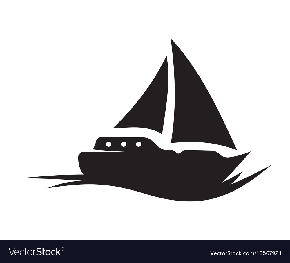 Sailing Boat icon vector image