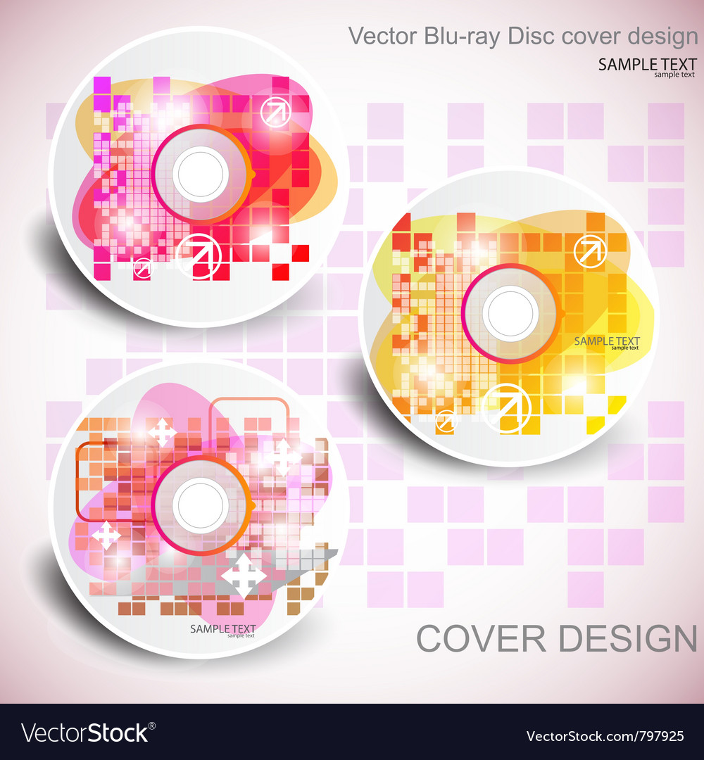 Cd cover design editable templates vector image