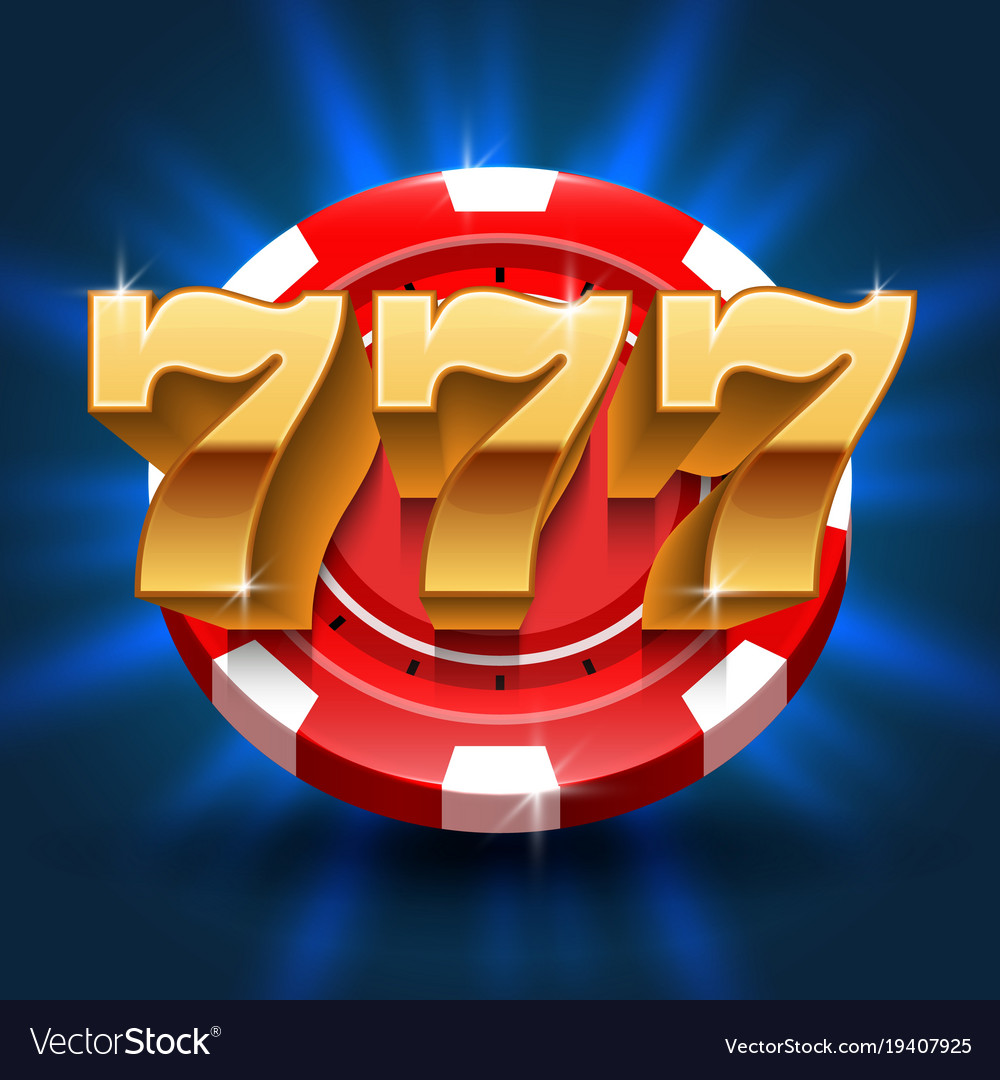 Lucky 777 numbers win slot background vector image