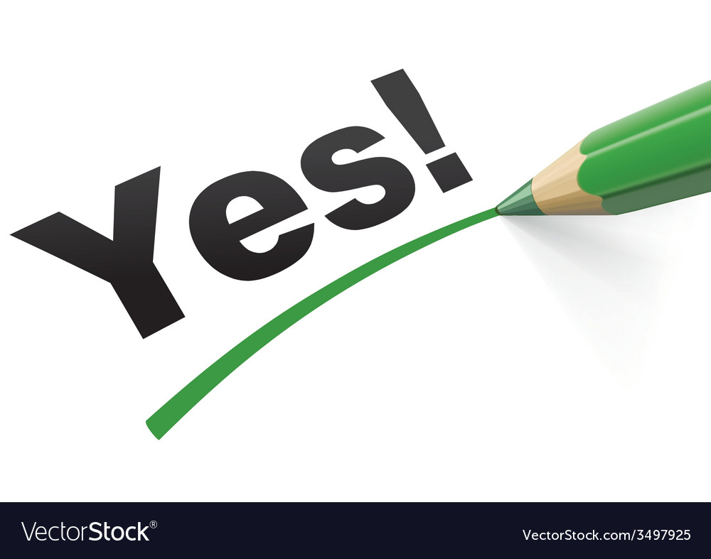 Pencil check Yes vector image
