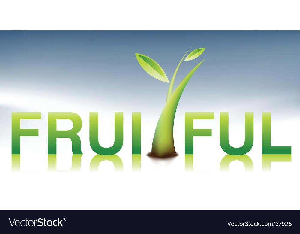 Fruitful illustration vector image