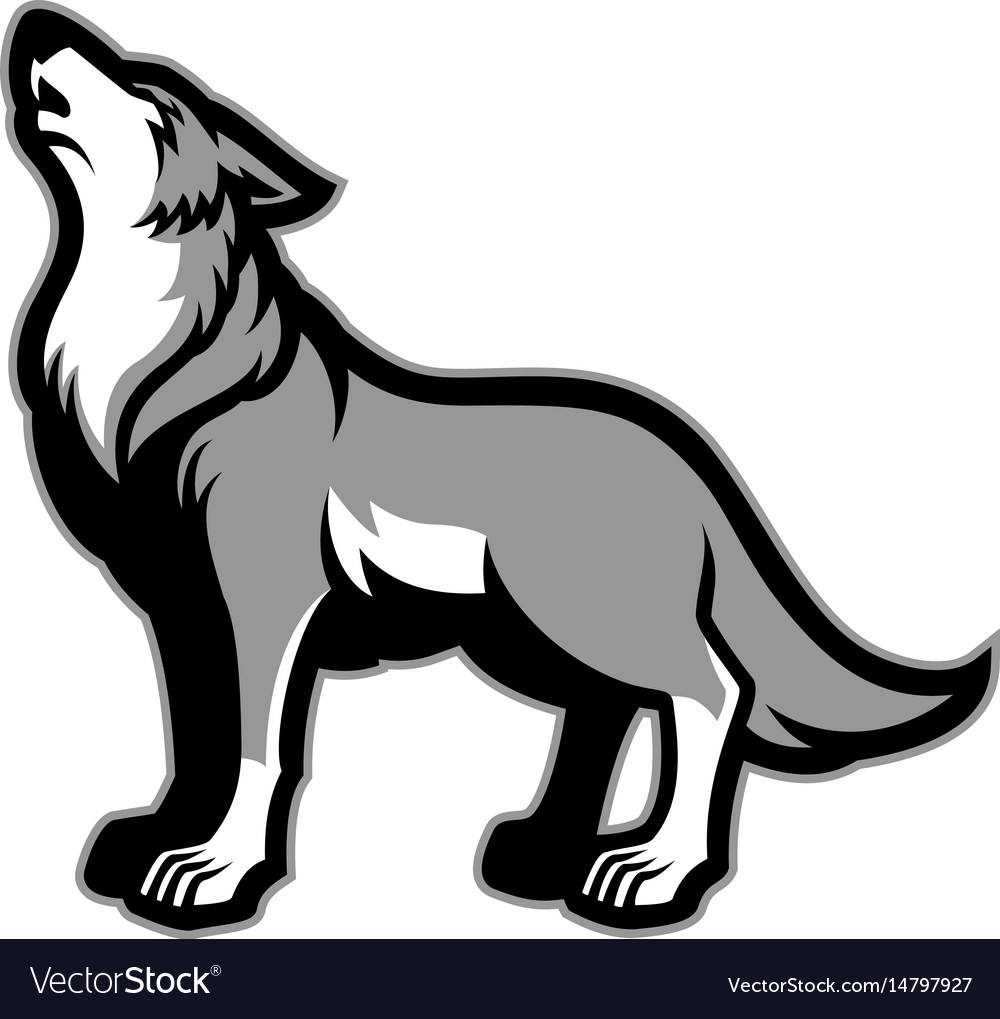 howling wolf royalty free vector image vectorstock rh vectorstock com wolf vector art free wolf vector art free
