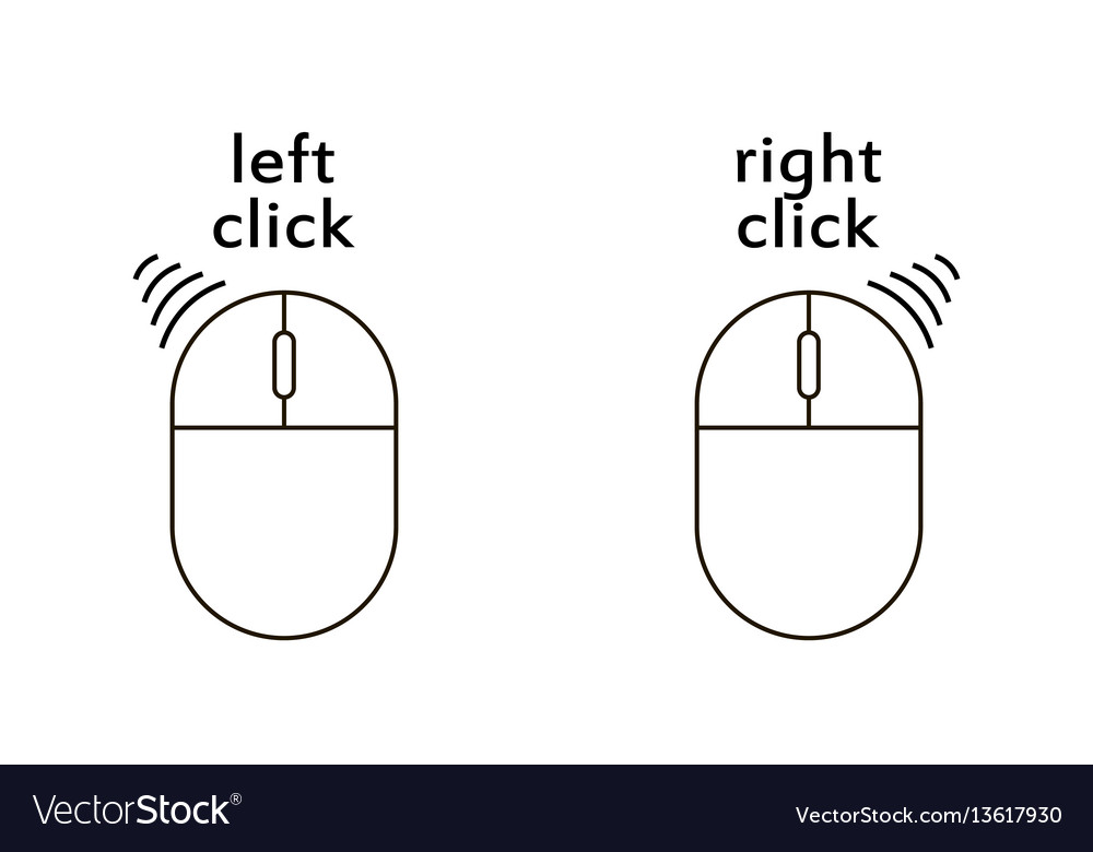 Computer mouse click buttons icon vector image