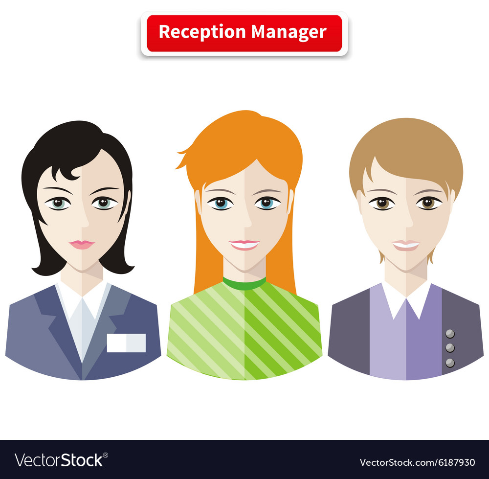 Reception Manager vector image