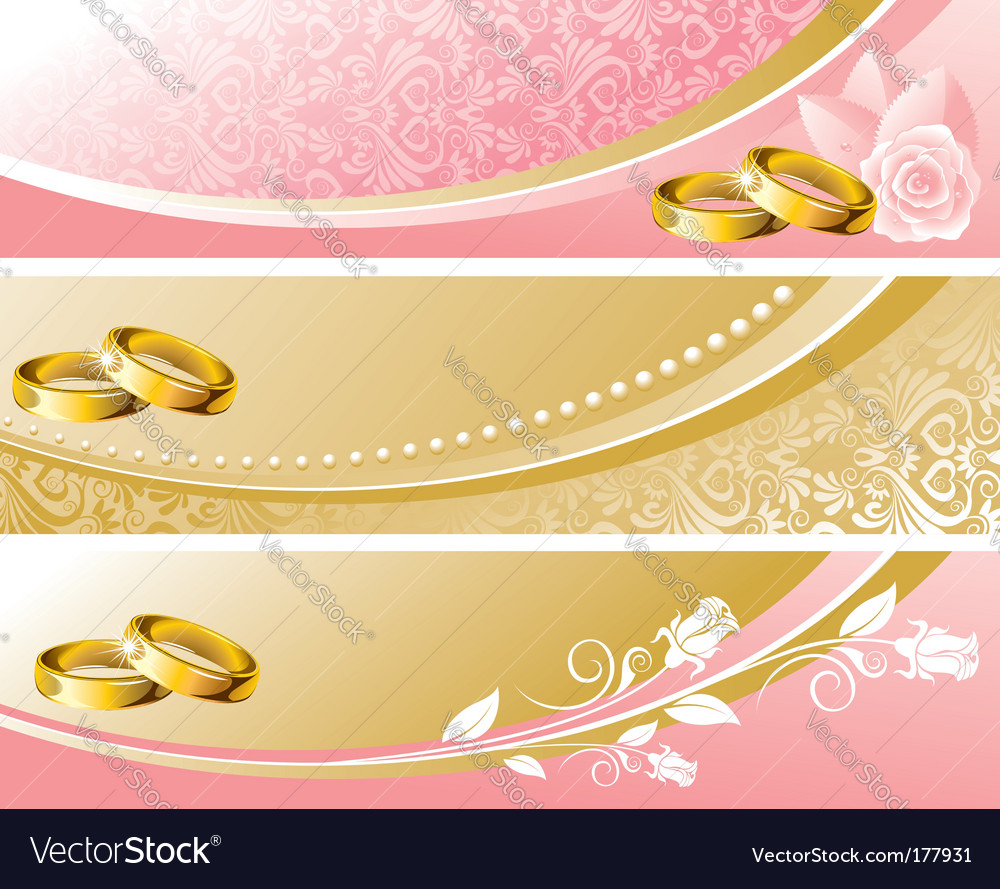 Set wedding background vector image