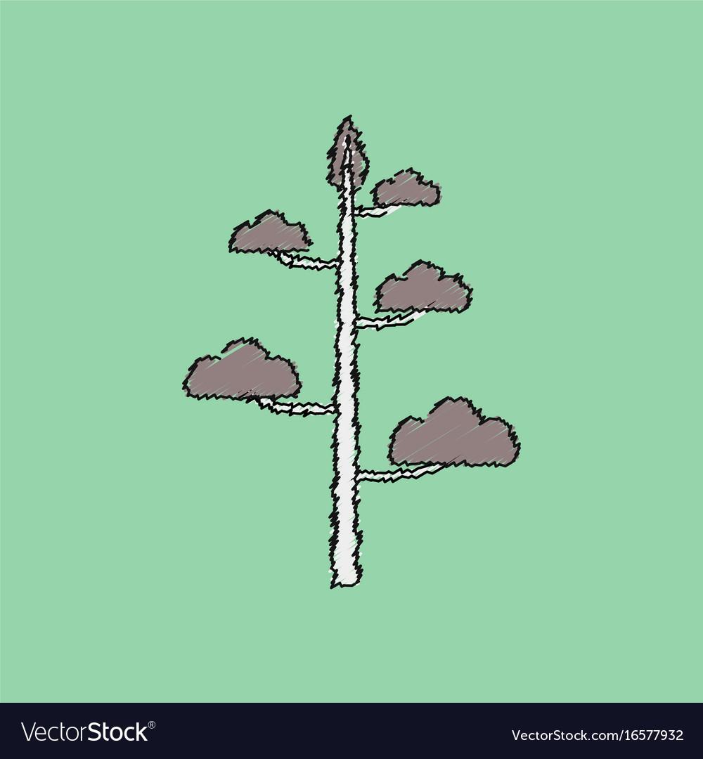 Flat shading style icon tree