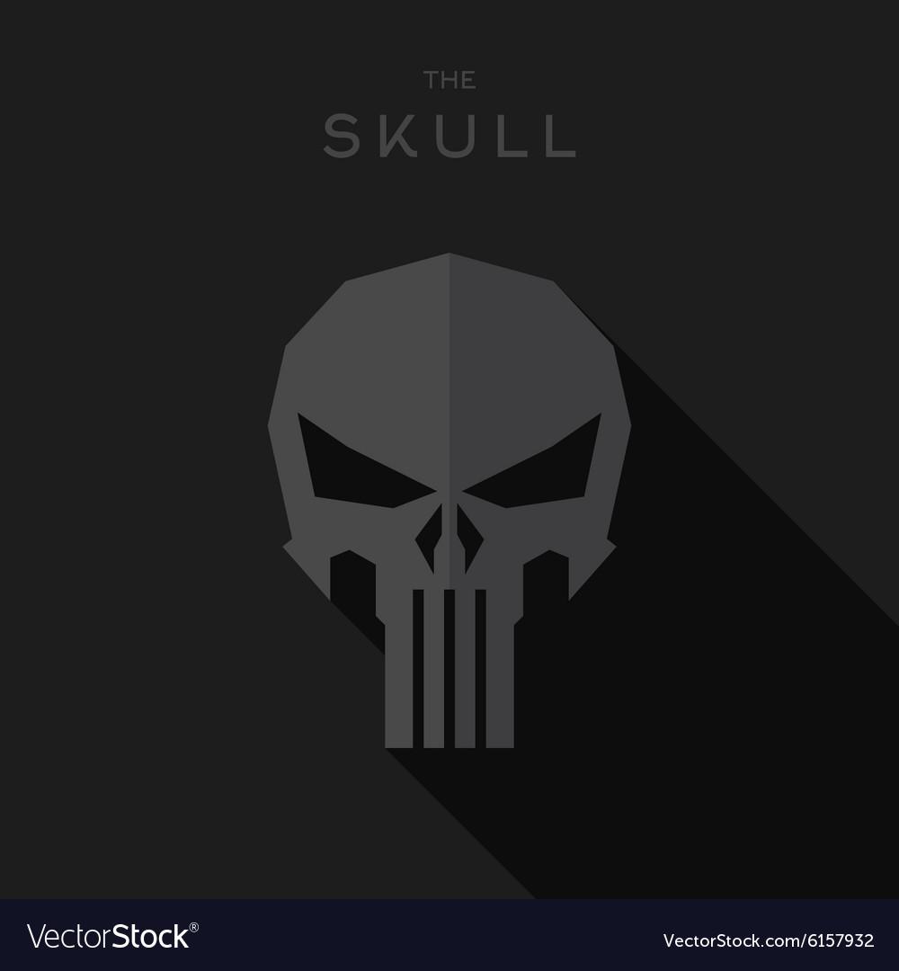 Mask villain Hero superhero skull flat style icon vector image