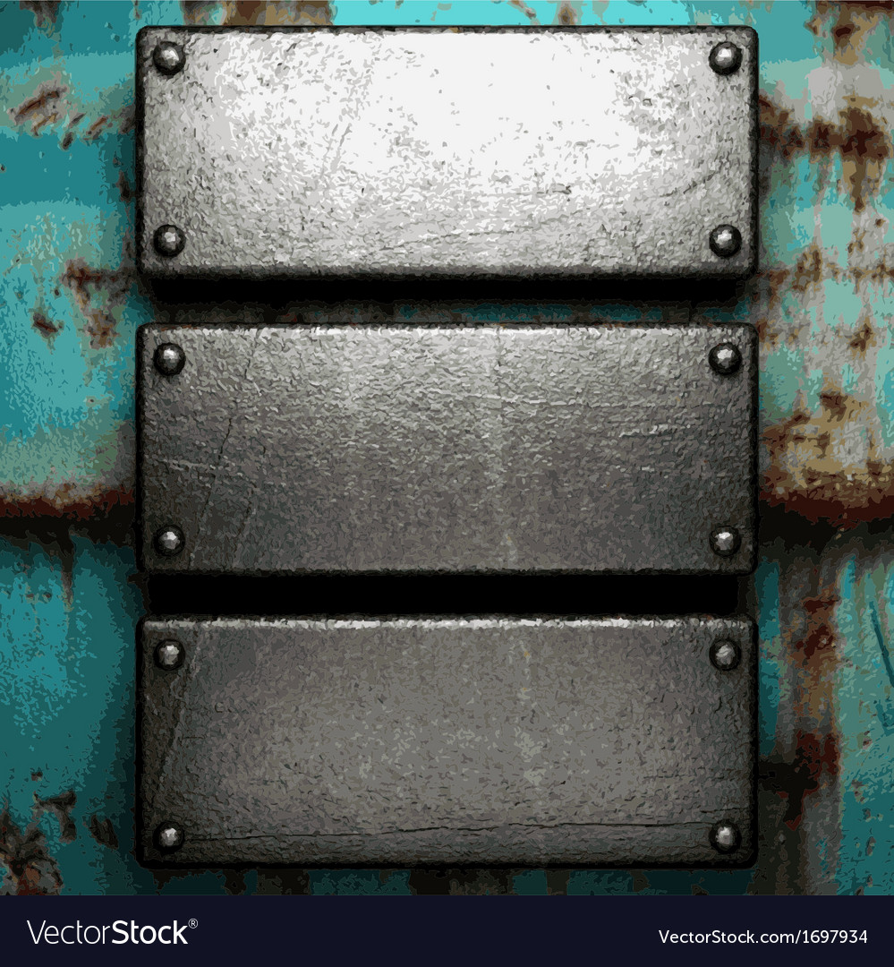 Old metal background vector image