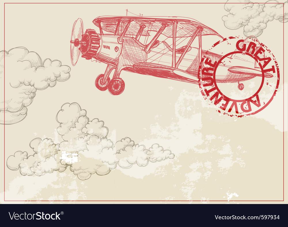 Vintage paper background vector image
