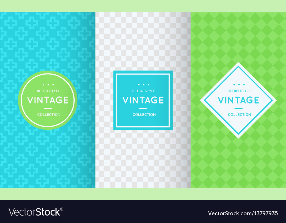 Spring seamless patterns vector image